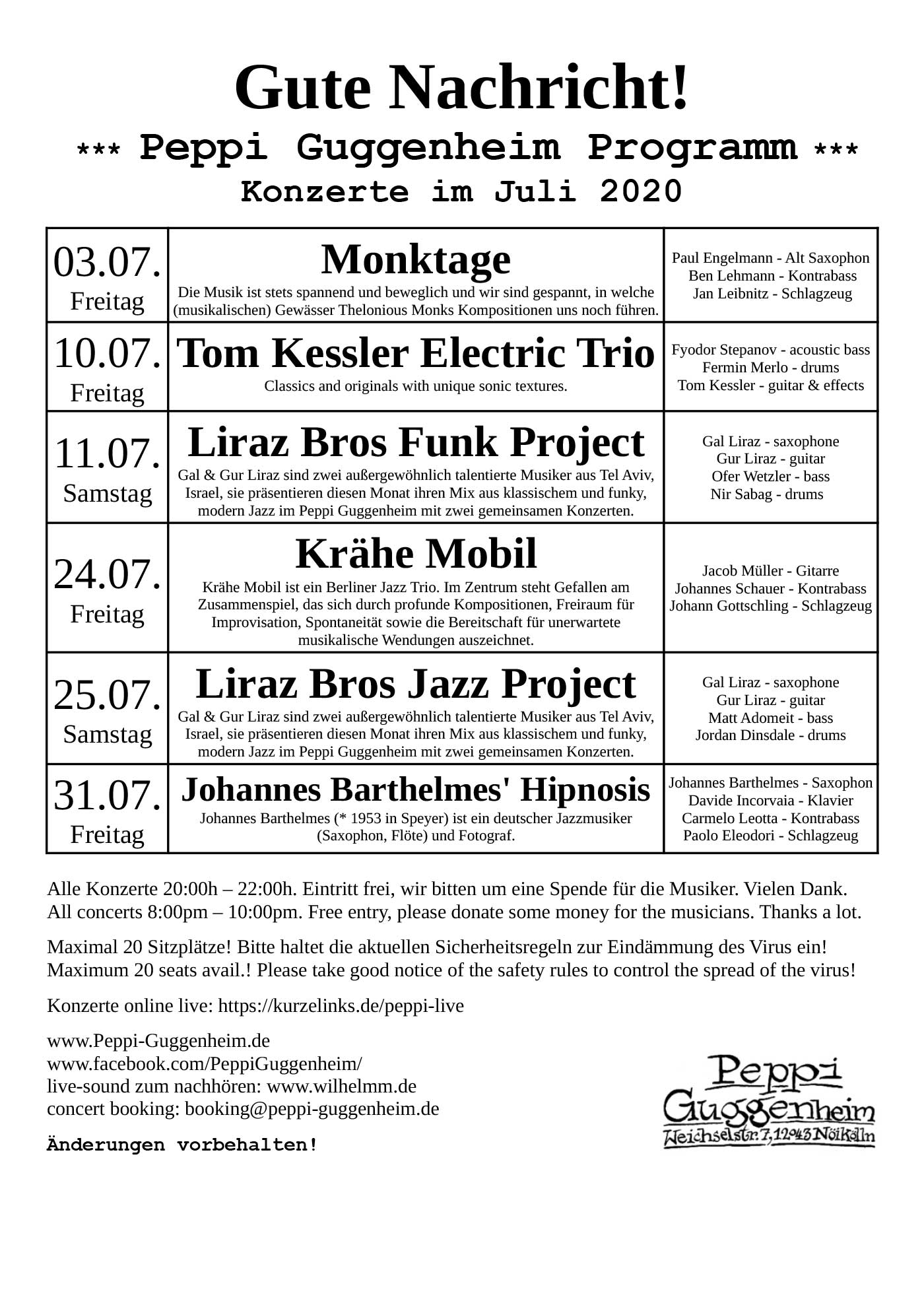 Peppi Guggenheim program 11/17